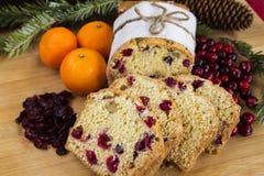 Orange cranberry loaf cake Stock Photo