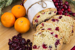Orange cranberry loaf cake Royalty Free Stock Photography