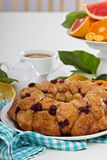 Orange and cranberry monkey bread. On white table Royalty Free Stock Photos