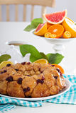 Orange and cranberry monkey bread. On white table Royalty Free Stock Photography