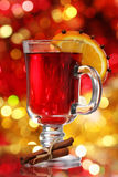 Orange and cranberry punch with spices Royalty Free Stock Images