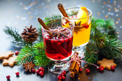 Orange and cranberry punch Royalty Free Stock Photo
