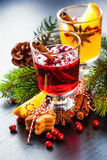 Orange and cranberry punch Stock Photo
