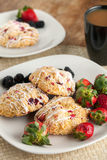 Orange Cranberry Scones Royalty Free Stock Images