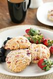 Orange Cranberry Scones Stock Images