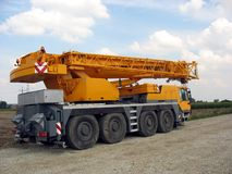 Orange crane Stock Photo