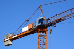 Orange crane Royalty Free Stock Image