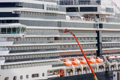 Orange Crane on Cruise Ship Royalty Free Stock Photo
