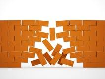 Orange crashed brick Royalty Free Stock Photo