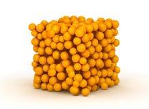 Orange crate box Royalty Free Stock Image