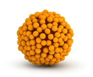 Orange crate virtual sphere. Orange virtual sphere piled up vector illustration