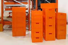Orange crates Royalty Free Stock Image