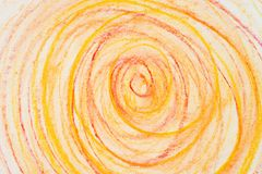 Orange crayon circles on paper drawing bacground texture. Orange color crayon circles on paper drawing bacground texture vector illustration