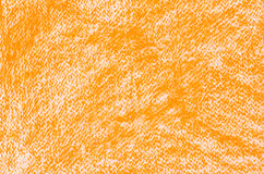 Orange crayon drawings background texture Stock Images