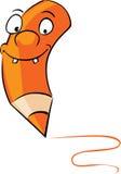 Orange crayon - vector illustration Royalty Free Stock Photography