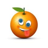 Orange crazy emoji. An orange crazy emoji image Royalty Free Stock Photography