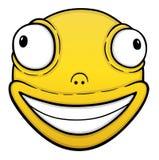 Orange crazy smile. Cartoon illustration vector illustration