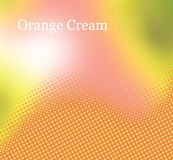 Orange Cream Stock Image