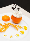 Orange and cream Stock Images