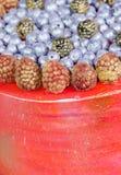 Orange cream cheese cake with raspberry, bilberry and blackberry. An orange cream cheese cake with raspberry, bilberry and blackberry Stock Photo