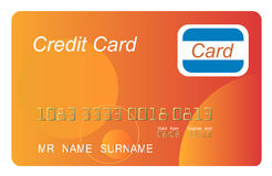Orange credit card Stock Photos