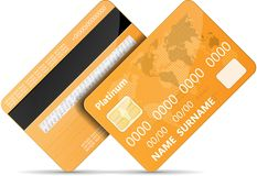 Orange credit card Royalty Free Stock Image