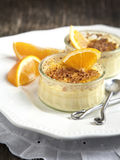 Orange Creme Brulee Stock Images