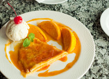 Orange crepe Royalty Free Stock Photo