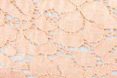 Orange Crochet Weft Texture Background Royalty Free Stock Photos