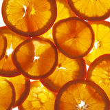 Orange cross sections Royalty Free Stock Photography