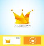 Orange crown 3d logo Stock Photos