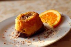 Orange crumb cake Stock Photography