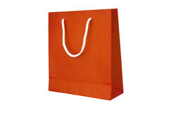 Orange Crumpled aeper Bag Stock Photography