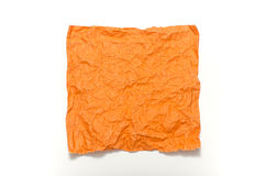 Orange crumpled paper texture Stock Image