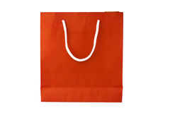 Orange Crumpled peper Bag Stock Photography
