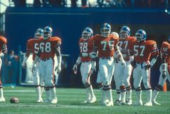 Orange Crush. The Denver Broncos defense known as the Orange Crush. Image taken from color slide royalty free stock photography