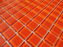 Orange crystal exponeringsglas Arkivfoto
