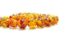 orange crystal pärla Royaltyfria Foton