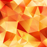 Orange crystal vector abstract pattern Royalty Free Stock Photos