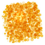 Orange crystals background Stock Photo