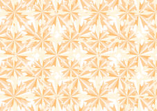 Orange crystals and stars pattern Royalty Free Stock Photography