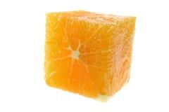Orange Cube. On White Background stock images