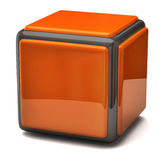 Orange cube Royalty Free Stock Photography