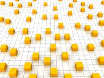 Free Orange Cubes Royalty Free Stock Image - 15237166