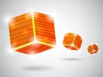 Orange cubes Stock Photo