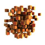 Orange cubes Stock Images