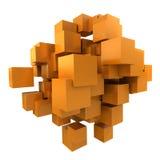 Orange cubes background Stock Images