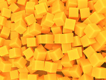 Orange cubes background. Many assorted orange cubes background Stock Images
