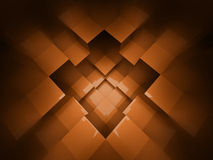 Orange cubes background rendered Royalty Free Stock Photography
