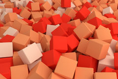 Orange cubes. 3d cg volumetric orange cubes background Royalty Free Stock Images